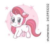 beautiful unicorn dream with... | Shutterstock .eps vector #1415953232