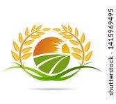 farm icon concept logo full... | Shutterstock .eps vector #1415969495