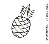 ananas isolated on white...   Shutterstock .eps vector #1415974562