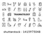 medicine line icon set of...   Shutterstock .eps vector #1415975048