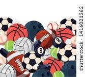 balls sport equipment vector... | Shutterstock .eps vector #1416021362