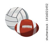 volleyball and rugby ball sport | Shutterstock .eps vector #1416021452