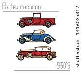 color vector icon set american...   Shutterstock .eps vector #1416035312