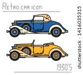 color vector icon set american...   Shutterstock .eps vector #1416035315