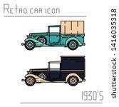 color vector icon set american...   Shutterstock .eps vector #1416035318