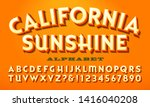 a bright warm colored alphabet  ... | Shutterstock .eps vector #1416040208