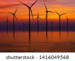 wind turbine farm power... | Shutterstock . vector #1416049568