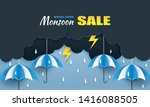 monsoon  rainy season sale... | Shutterstock .eps vector #1416088505