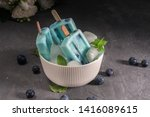 blue popsicles with blueberries ... | Shutterstock . vector #1416089615