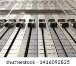 audio mixer  mixing console ... | Shutterstock . vector #1416092825