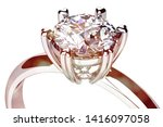 wedding ring with diamond. sign ...   Shutterstock . vector #1416097058
