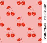 stencil red cherry print....   Shutterstock .eps vector #1416100805