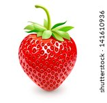 strawberries. vector eps 10.