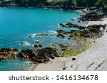 jersey island. beautiful cliffs ... | Shutterstock . vector #1416134678