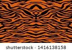 texture of bengal tiger fur ... | Shutterstock .eps vector #1416138158
