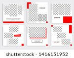 editable square frame banner... | Shutterstock .eps vector #1416151952