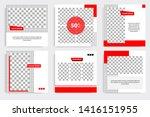 editable square frame banner... | Shutterstock .eps vector #1416151955