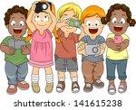 illustration of little boys and ... | Shutterstock .eps vector #141615238