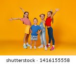 group of cheerful happy... | Shutterstock . vector #1416155558