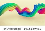 colorful spiral shape. computer ... | Shutterstock . vector #1416159482
