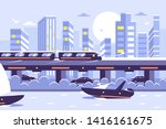 Futuristic Subway Train...