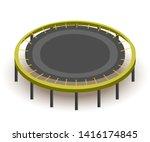 round trampoline isometric... | Shutterstock .eps vector #1416174845