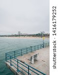 bench and view of the beach on...   Shutterstock . vector #1416179252