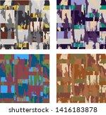 abstract brush stroke grunge... | Shutterstock .eps vector #1416183878
