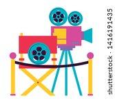 cinema movie projector chair...   Shutterstock .eps vector #1416191435