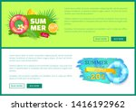 summer sale web poster with...