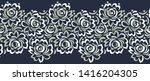 seamless vector rose flower... | Shutterstock .eps vector #1416204305