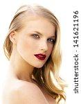 close up portrait of beautiful...   Shutterstock . vector #141621196