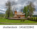wooden church in debno at...
