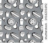 fast food seamless pattern....