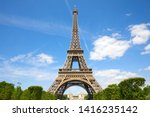 eiffel tower in paris in a... | Shutterstock . vector #1416235142