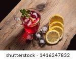 summer iced drink   hibiscus... | Shutterstock . vector #1416247832