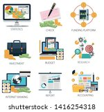 financial investment icons ... | Shutterstock .eps vector #1416254318