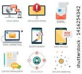 social media icons  content... | Shutterstock .eps vector #1416254342