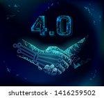 low poly handshake future... | Shutterstock .eps vector #1416259502