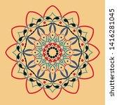 floral round decorative symbol. ... | Shutterstock . vector #1416281045