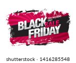 black friday sale banner layout ... | Shutterstock .eps vector #1416285548
