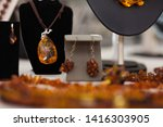 Counter With Amber Jewelry In...