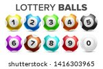 balls with numbers for lottery... | Shutterstock .eps vector #1416303965