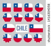 chile flag collection figure... | Shutterstock .eps vector #1416304058