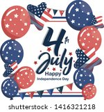 fourth of july   the... | Shutterstock .eps vector #1416321218