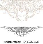 Detailed Art Nouveau Decorative ...