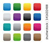 blank square buttons   Shutterstock .eps vector #141632488