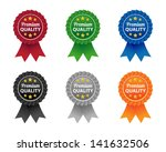 premium quality labels | Shutterstock .eps vector #141632506