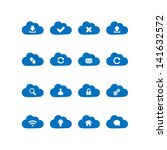 cloud computing icons | Shutterstock .eps vector #141632572