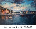 An Oil Painting On Canvas Of A...